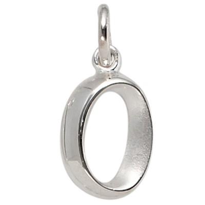 Anhänger Buchstabe O 925 Sterling Silber matt Buchstabenanhänger