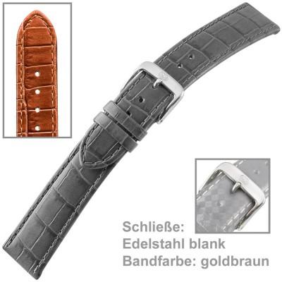 Uhrenarmband Ladies 14mm, Louisiana Prägung auf Kalbleder, Schließe Edelstahl