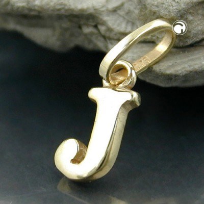 Anhänger Buchstabe J 375 Gold