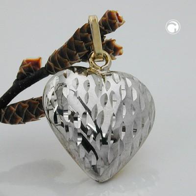 Anhänger Herz bicolor 375 Gold