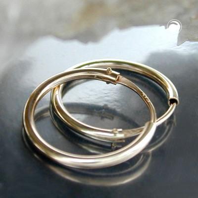 Creolen Ohrringe 15mm glänzend 375 Gold
