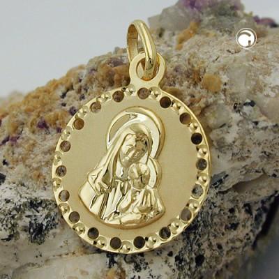 Anhänger Maria mit Jesuskind 375 Gold