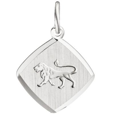Anhänger Sternzeichen Löwe 925 Sterling Silber matt Sternzeichenanhänger