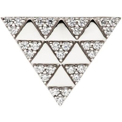 Anhänger Dreieck 925 Sterling Silber mit Zirkonia Silberanhänger dreieckig