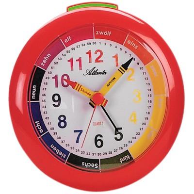 Wecker Kinderwecker Quarz analog rot bunt Lernwecker für Kinder