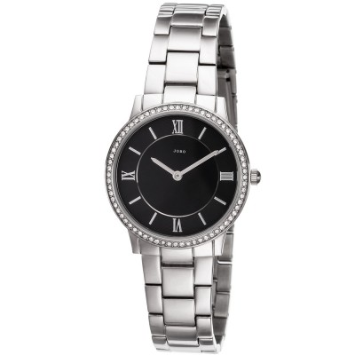 Damen Armbanduhr Quarz Analog Edelstahl mit SWAROVSKI® Elements