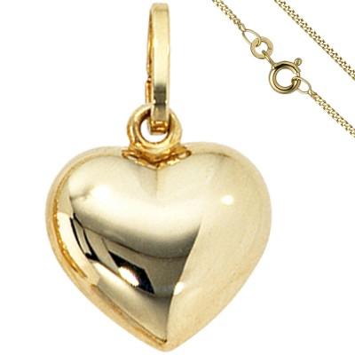 Anhänger Kleines Herz Herzchen 333 Gold mit Kette 50cm Goldherz