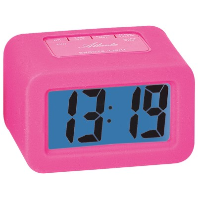 Wecker Quarz digital rosa pink Digitalwecker mit Licht Snooze