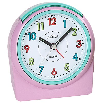 Wecker Quarz analog für Kinder Kinderwecker rosa ohne Ticken