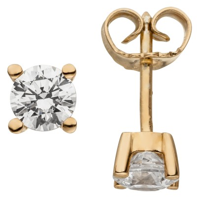 Ohrstecker 585 Rotgold 2 Diamanten Brillanten 1,00ct. Ohrringe