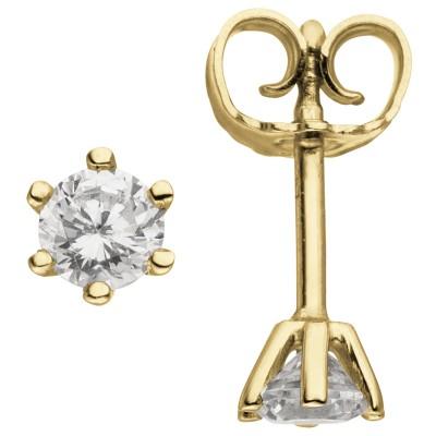 Ohrstecker 585 Gelbgold 2 Diamanten Brillanten 0,74ct. Ohrringe