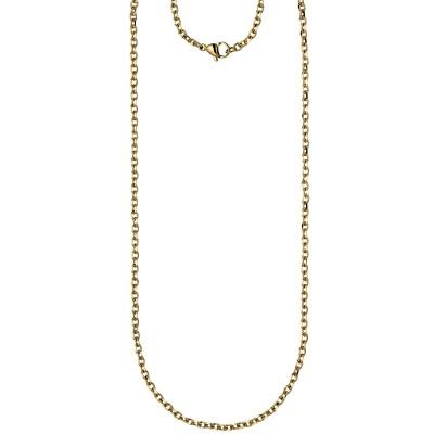 Halskette Kette Ankerkette Edelstahl gold farben beschichtet 70cm