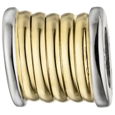 Anhänger LOVE 925er Sterling Silber bicolor vergoldet
