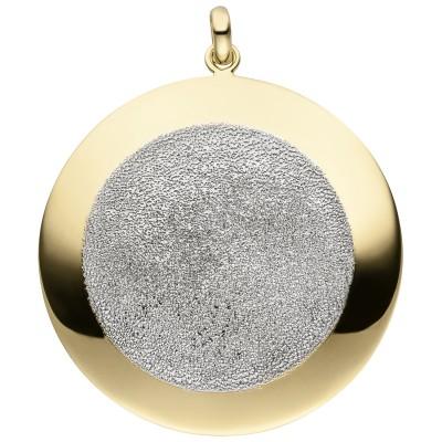 Anhänger 925er Sterling Silber vergoldet mit Glitzereffekt