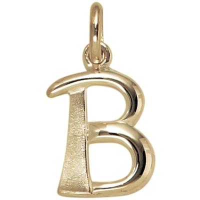 Anhänger Buchstabe B 375 Gelbgold Buchstabenanhänger