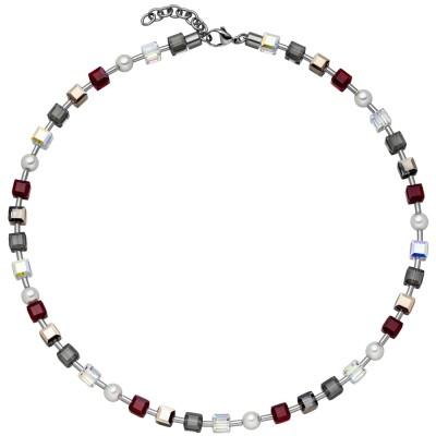 Collier Halskette SWAROVSKI® ELEMENTS mit Edelstahl 45cm Kette