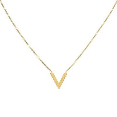 Collier Halskette Edelstahl goldfarben beschichtet 45cm Kette