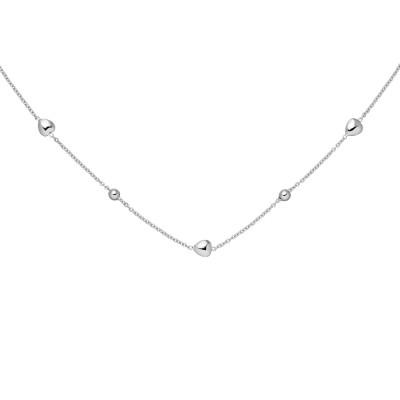 Collier Herz Kugel 925 Sterlingsilber 45cm Silberkette Federring