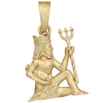 Anhänger Sternzeichen Wassermann 925 Sterlingsilber vergoldet matt