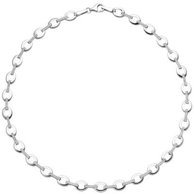 Collier Halskette 925 Sterlingsilber 196 Zirkonia 45cm Kette Silberkette