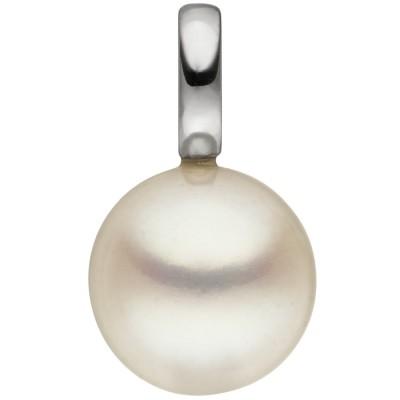 Anhänger 585 Weißgold 1 Süßwasser Perle Perlenanhänger