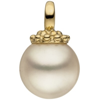 Anhänger 585 Gelbgold 1 Süßwasser Perle Perlenanhänger