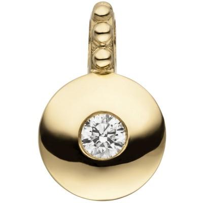 Anhänger 585 Gelbgold 1 Diamant Brillant Diamantanhänger
