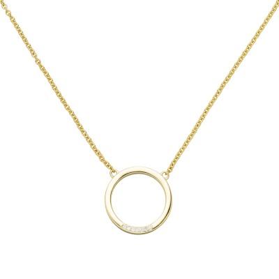 Collier Halskette 585 Gelbgold 7 Diamanten Brillanten 44cm Kette