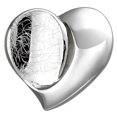 Anhänger Herz 925 Sterlingsilber eismatt Herzanhänger Silberanhänger