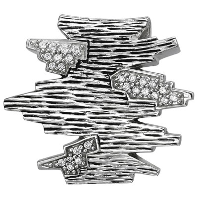 Anhänger 925 Sterlingsilber geschwärzt 26 Zirkonia Silberanhänger