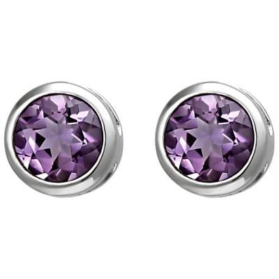 Ohrstecker 925 Sterlingsilber 2 Amethyste lila violett Ohrringe