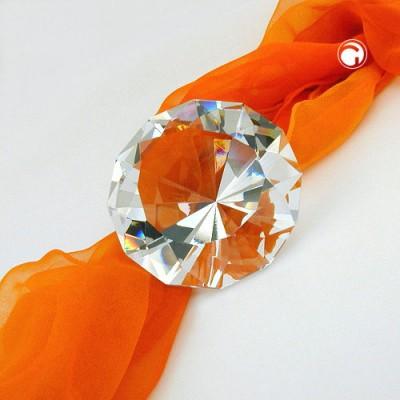 Glasstein Form Diamant kristall klar
