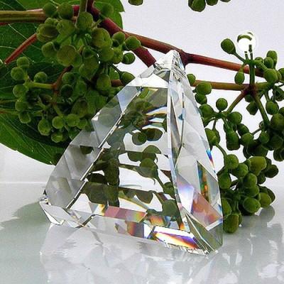 Anhänger Dreieck gewölbt Kristallglas