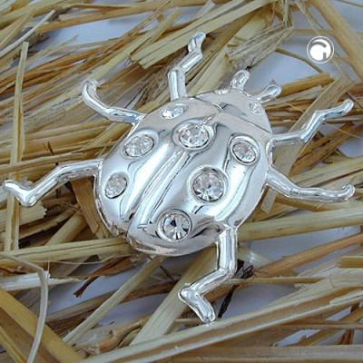 Suncatcher Marienkäfer flach Kristallglas