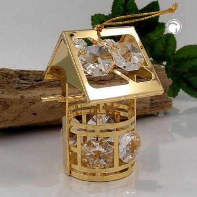 Wunschbrunnen mit Glas-Steinen Kristallglas