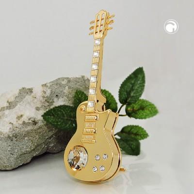 Elektrische Gitarre mit Glas-Steinen