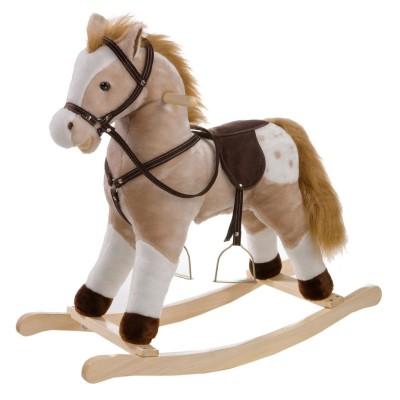Pferd Schaukel Schaukelpferd mit Stimme 74cm
