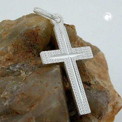 Anhänger Kreuz diamantiert 925 Sterlingsilber