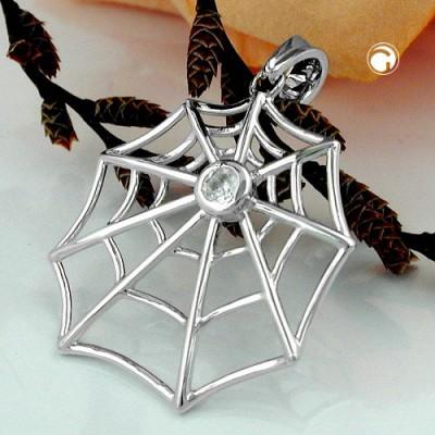 Anhänger Spinnennetz Zirkonia 925 Sterlingsilber