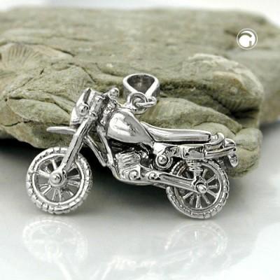 Anhänger altes Motorrad 925 Sterlingsilber