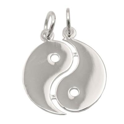 Anhänger Doppel Yin-Yang glänzend 925 Sterlingsilber