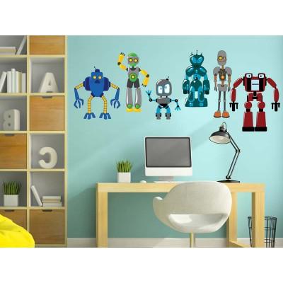 Wandtattoo Die Roboter