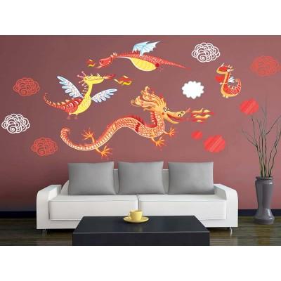 Wandtattoo Dragons