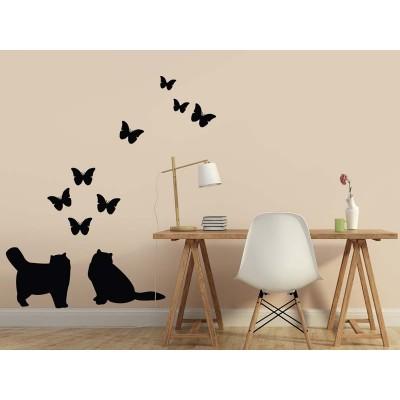 Katzen & Schmetterlinge