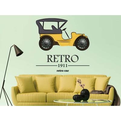 Wandtattoo Retro Car