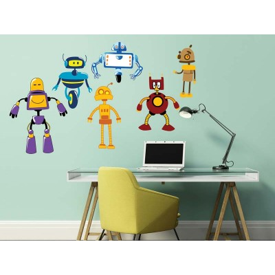 Wandtattoo Robots